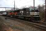 NS 2602, BNSF 6934, NS 9634 on rear of 24K, CSX B100 re-route